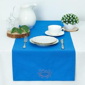 Дорожка 'Этель' Краб 40*140, саржа, цв. Синий, 100% хл, 200 гр/м2 Ош