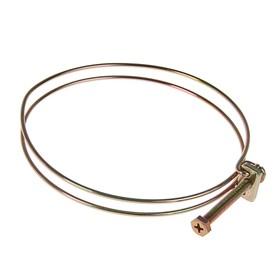 Хомут проволочный MGF W1, 4 3/4', диаметр 111-121 мм, оцинкованный Ош