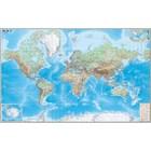 Карта Мир Обзорная 190*140см 1:15М лам в пласт тубусе ОСН1234466