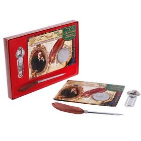 Подарочный набор 'А.П. Чехов' ручка+закладка+монета Ош