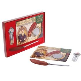 Подарочный набор 'Л.Н. Толстой' ручка+закладка+монета Ош