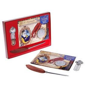 Подарочный набор 'А.А.Ахматова' ручка+закладка+монета Ош