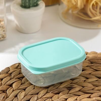 Контейнер прямоугольный Доляна, пищевой, 150 мл, цвет бирюзовый - Фото 1