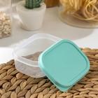 Контейнер прямоугольный Доляна, пищевой, 150 мл, цвет бирюзовый - Фото 3