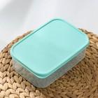 Контейнер прямоугольный Доляна, пищевой, 1,2 л, цвет бирюзовый - Фото 2