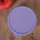 Набор контейнеров пищевых круглых Доляна, 3 шт: 150 мл, 300 мл, 500 мл, цвет сиреневый - Фото 4