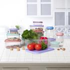 Набор контейнеров пищевых круглых Доляна, 3 шт: 150 мл, 300 мл, 500 мл, цвет сиреневый - Фото 7