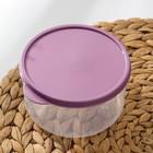 Набор контейнеров пищевых круглых Доляна, 3 шт: 150 мл, 300 мл, 500 мл, цвет фиолетовый - Фото 3