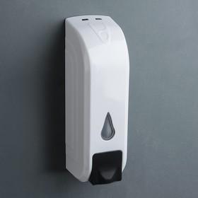 Диспенсер для антисептика/жидкого мыла механический, 350 мл, цвет белый Ош