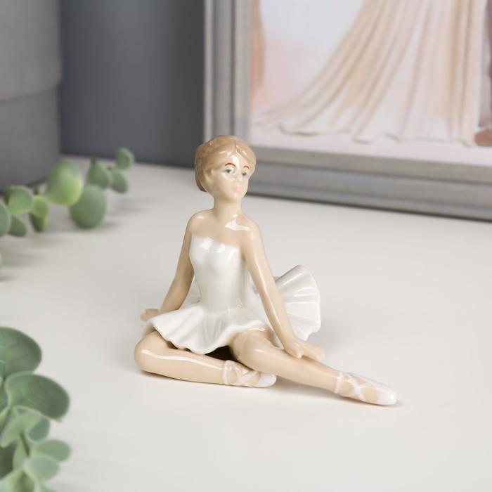 Сувенир керамика Балерина в белой пачке 8х12,4х7,3 см