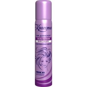 Лак для волос Красотка Эластичная фиксация с протеинами шелка, сильная фиксация 200 мл