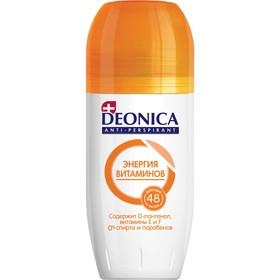 Антиперспирант Deonica Энергия витаминов шариковый, 50 мл