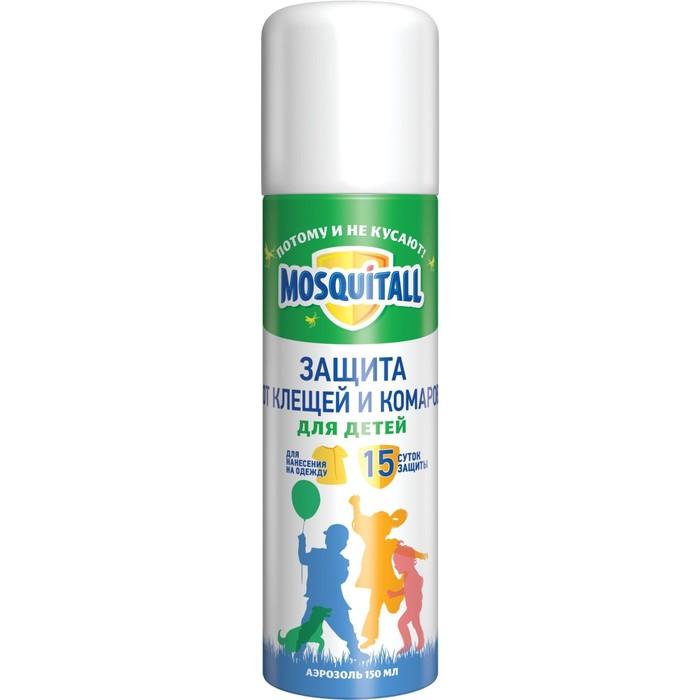 """Аэрозоль """"Mosquitall"""", от клещей и комаров, для детей, 150 мл"""