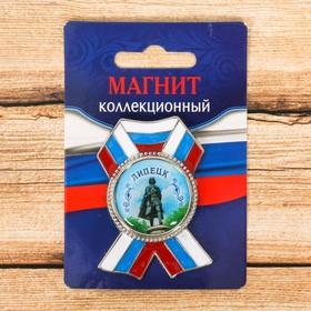 Магнит в форме ордена «Липецк. Памятник Петру I» Ош
