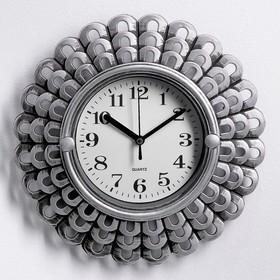Часы настенные, серия: Интерьер, 'Солнышко', хромированные, 26х26 см Ош