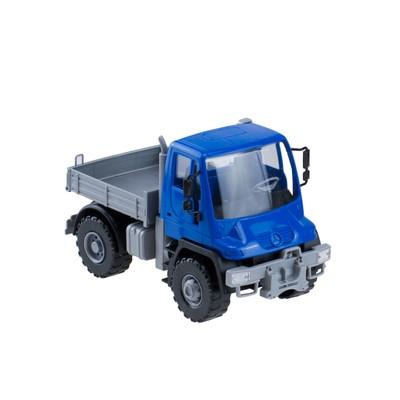 Самосвал бортовой «Мерседес Unimog U 500», 17,5 см, цвет синий