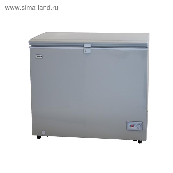 Морозильный ларь Optima BD-310GLG, 302 л, от +5 до -24 °С, 3 корзины, замок, серый