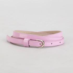 Ремень женский, гладкий, ширина - 1 см, пряжка металл, цвет розовый Ош