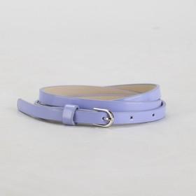 Ремень женский, гладкий, ширина - 1 см, пряжка металл, цвет сиреневый Ош