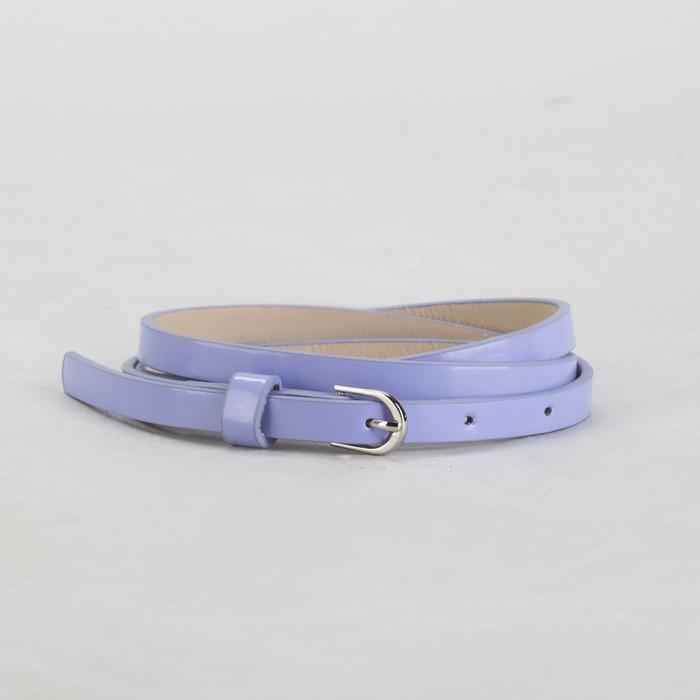 Ремень, гладкий, ширина - 1 см, пряжка металл, цвет сиреневый