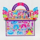 Аппликация наклейками «Создай наряд куколки Лены» с раскраской