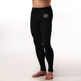 Кальсоны мужские термо, цвет чёрный, размер 52