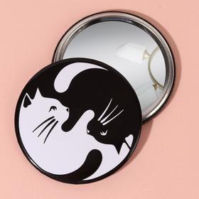 Зеркало «Кошки», цвет чёрный/белый Ош
