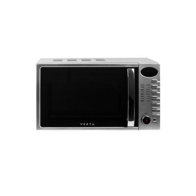 Микроволновая печь Vekta TS720ATS, 20 л, 700 Вт, дисплей, ручка, 8 программ, серебристая