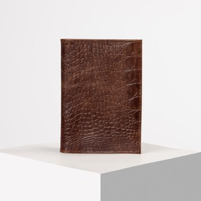 Обложка для автодокументов и паспорта, кайман, цвет светло-коричневый