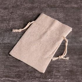 Мешочек 'Эко' универсальный, верёвка белая, 8х12 см Ош