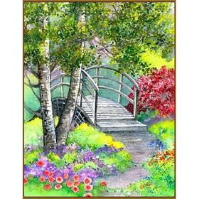 Алмазная мозаика «Лесной мостик», 20 × 26 см, 35 цветов