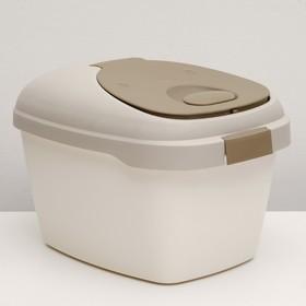 Контейнер для корма Soft на 5 кг, с совком и двойным уплотнителем, коричневый Ош
