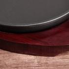 Сковорода «Круг Базис», d=18 см, на деревянной подставке - Фото 2
