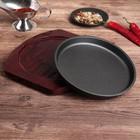 Сковорода «Круг Базис», d=18 см, на деревянной подставке - Фото 4