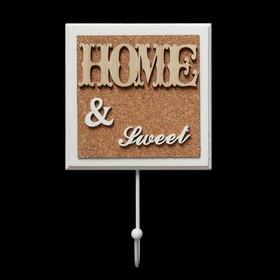 Крючок декоративный дерево 'HOME&SWEET' 21,5х13 см Ош