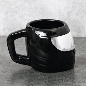 Кружка «Шлем», чёрная, 600 мл