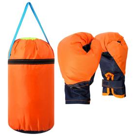 Детский боксёрский набор малый (перчатки+ груша d20 h35см), цвет МИКС Ош