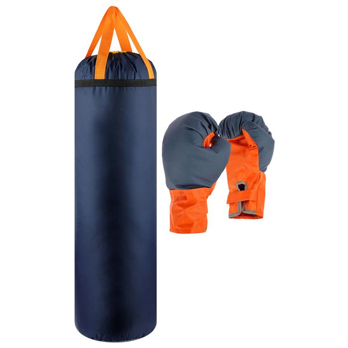 Детский боксёрский набор «Гигант», перчатки и груша d=25 см, h=80 см, цвета микс