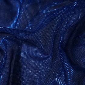 Трикотаж плательный, сетка мягкая, ширина 150 см, синий