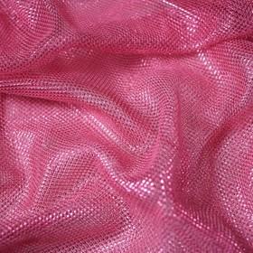 Трикотаж плательный, сетка мягкая, ширина 150 см, розовый Ош