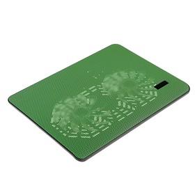 Подставка Luazon для охлаждения ноутбука, зеленая, провод 40 см, 2 вентилятора Ош