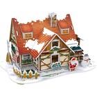 3D Пазл «Рождественский домик №1», с подсветкой, 53 детали