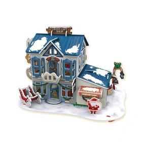 3D Пазл «Рождественский домик №2», с подсветкой, 56 деталей