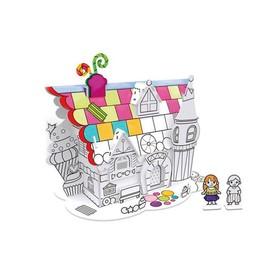 Пазл-раскраска «Десертный домик», 5 фломастеров в комплекте