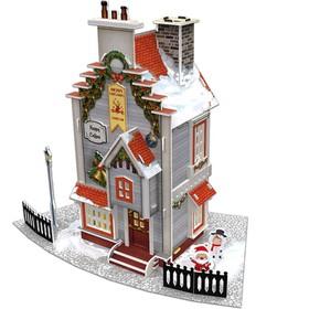 3D Пазл «Рождественский коттедж №2», с подсветкой, 77 деталей