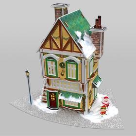3D Пазл «Рождественский коттедж №3», с подсветкой, 81 деталь