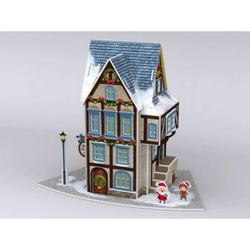 3D Пазл «Рождественский коттедж №4», с подсветкой, 77 деталей