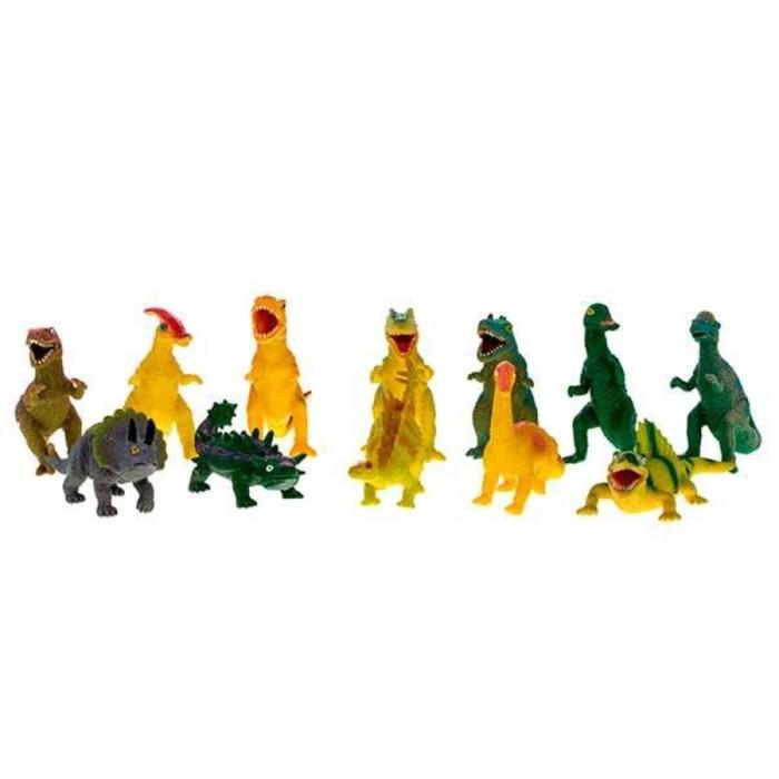 Игрушка «Динозавр» резиновый, с наполнением гранулами, малый, МИКС