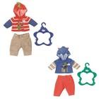 Одежда для куклы-мальчика BABY born, с вешалкой, МИКС