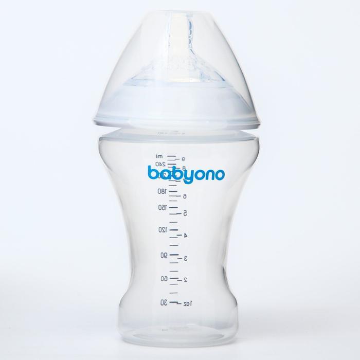 Бутылочка антиколиковая BabyOno, 260 мл
